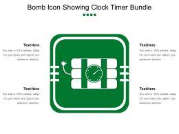 Bomb Icon Showing Clock Timer Bundle