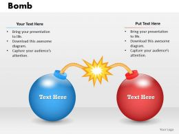 Bomb Powerpoint Template Slide