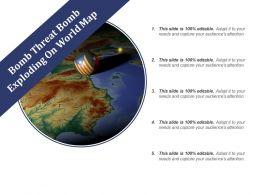 Bomb Threat Bomb Exploding On World Map