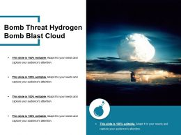 Bomb Threat Hydrogen Bomb Blast Cloud
