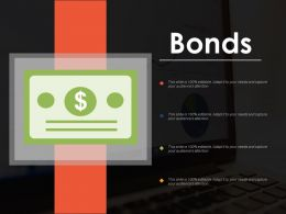 Bonds Doller Finance Ppt Powerpoint Presentation Diagram Graph Charts