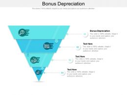 Bonus Depreciation Ppt Powerpoint Presentation Layouts Icons Cpb