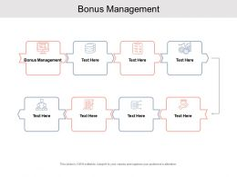 Bonus Management Ppt Powerpoint Presentation Portfolio Professional Cpb