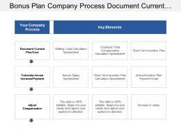 Bonus Plan Company Process Document Current Plan Cost And Key Elements