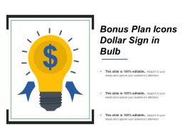 Bonus Plan Icons Dollar Sign In Bulb