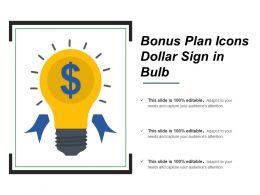Bonus Plan Icons Dollar Sign In Bulb