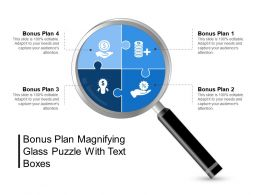 Bonus Plan Magnifying Glass Puzzle With Text Boxes