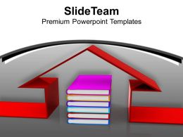Book And House Conceptually Education Powerpoint Templates Ppt Themes And Graphics 0113