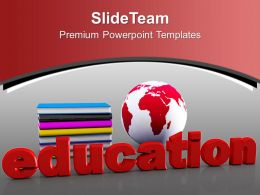 Book And Mini Globe With Education PowerPoint Templates PPT Themes And Graphics 0313