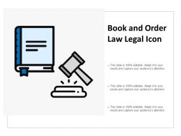 Book And Order Law Legal Icon