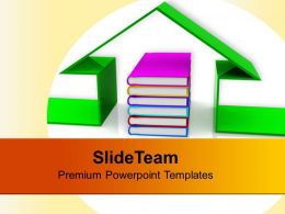 Book And The House Conceptually Future PowerPoint Templates PPT Themes And Graphics 0113