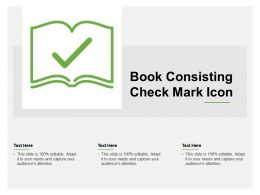 Book Consisting Check Mark Icon