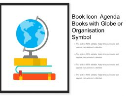 Book Icon Agenda Books With Globe Or Organisation Symbol