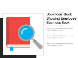 Book Icon Book Showing Employee Business Book