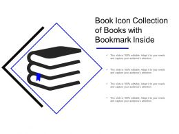 Book Icon Collection Of Books With Bookmark Inside