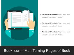 Book Icon Man Turning Pages Of Book