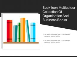 Book Icon Multicolour Collection Of Organisation And Business Books