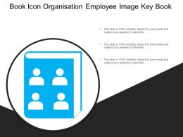 Book Icon Organisation Employee Image Key Book