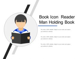 Book Icon Reader Man Holding Book