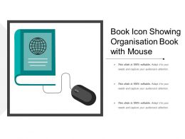 Book Icon Showing Organisation Book With Mouse