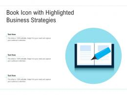 Book Icon With Highlighted Business Strategies