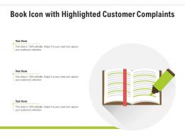 Book Icon With Highlighted Customer Complaints