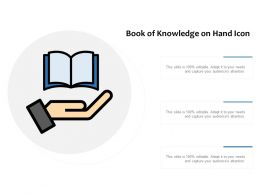 Book Of Knowledge On Hand Icon