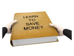 Book Of Learn To Save Money Stock Photo