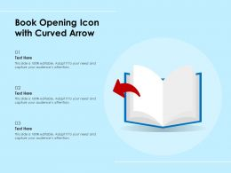 Book Opening Icon With Curved Arrow