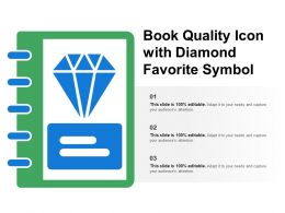 Book Quality Icon With Diamond Favorite Symbol
