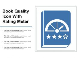 Book Quality Icon With Rating Meter