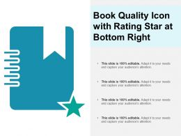 Book Quality Icon With Rating Star At Bottom Right