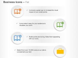 book_setting_add_delete_briefcase_ppt_icons_graphics_Slide01