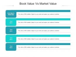 Book Value Vs Market Value Ppt Powerpoint Presentation Summary Template Cpb