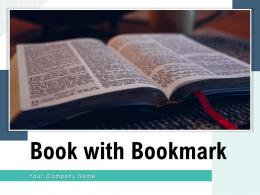 Book With Bookmark Ancient Magnifying Glass Various Ribbon