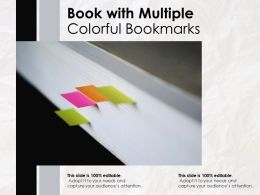 Book With Multiple Colorful Bookmarks
