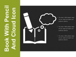 Book With Pencil And Cloud Icon