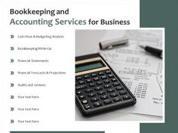 Bookkeeping And Accounting Services For Business