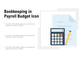 Bookkeeping In Payroll Budget Icon