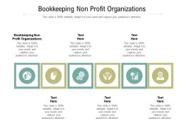 Bookkeeping Non Profit Organizations Ppt Powerpoint Presentation Summary Demonstration Cpb