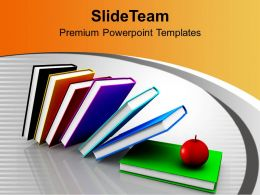 Books And Apples Together Future PowerPoint Templates PPT Themes And Graphics 0313
