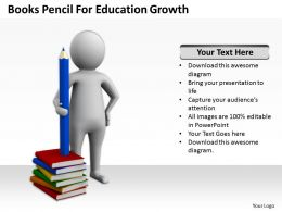 Books Pencil For Education Growth Ppt Graphics Icons Powerpoint