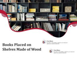 Books Placed On Shelves Made Of Wood