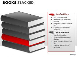 Books Stacked ppt 3