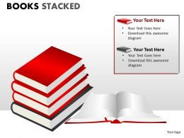Books Stacked ppt 8