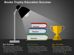 books_trophy_education_success_flat_powerpoint_design_Slide01