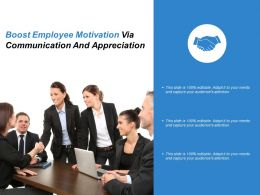 Boost Employee Motivation Via Communication And Appreciation