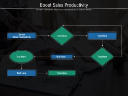 Boost Sales Productivity Ppt Powerpoint Presentation Outline Professional Cpb