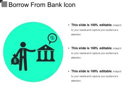 Borrow From Bank Icon