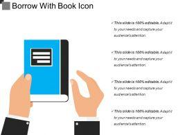 Borrow With Book Icon